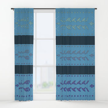 Malibu Turquoise Blue Window Curtains by deluxephotos