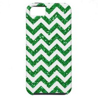 Green Glitter Chevron Pattern iPhone 5 Cases from Zazzle.com