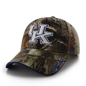 NCAA Kentucky Wildcats Frost Mvp Adjustable Hat, One Size, Realtree Camouflage