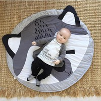 Cartoon fox Baby blanket children's play Mat Toddler kids cotton Rug newborn boy bedding room decoration photography props 95cm