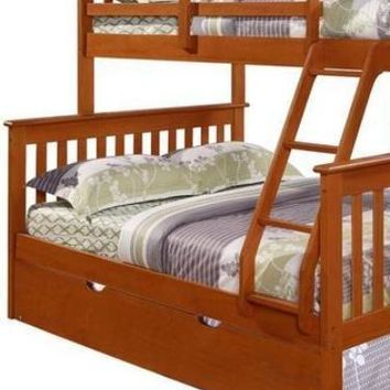 Jayden Espresso Twin over Full Bunk Bed with Trundle Bed