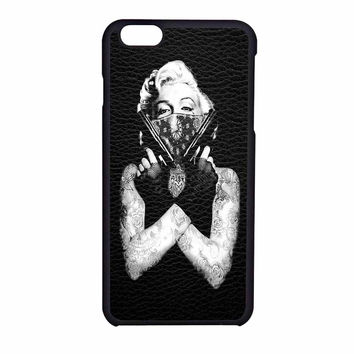Marilyn Monroe Guns Black Skin iPhone 6 Case