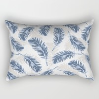 My blue feathers Rectangular Pillow by Juliagrifol Designs