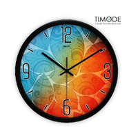 Fashion Art Wall Clock Fancy Color In Black