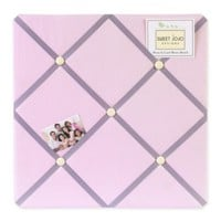 Sweet Jojo Designs Butterfly Fabric Memo Board in Pink/Purple