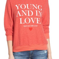 Wildfox 'Baggy Beach Jumper - Not With You' Pullover | Nordstrom