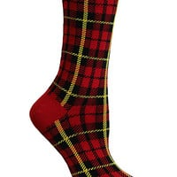 MAD ABOUT PLAID CREW SOCK