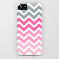 Pink Fade Chevron iPhone case iPhone & iPod Case by RexLambo