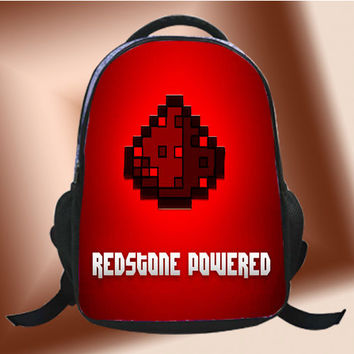 Redstone Powered Minecraft - SchoolBags.