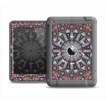 The Mirrored Coral and Colored Vector Aztec Pattern Apple iPad Air LifeProof Nuud Case Skin Set