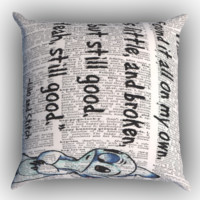 Disney Lilo And Stitch Quote Zippered Pillows  Covers 16x16, 18x18, 20x20 Inches