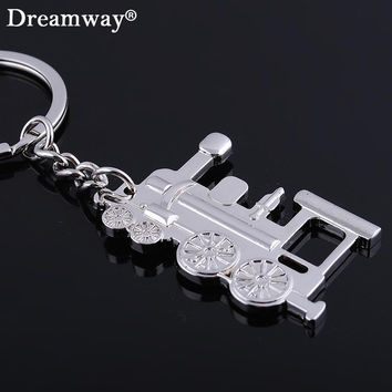 Locomotive keychain metal railway engine key chains train head key ring holder personality trinket gift novelty items