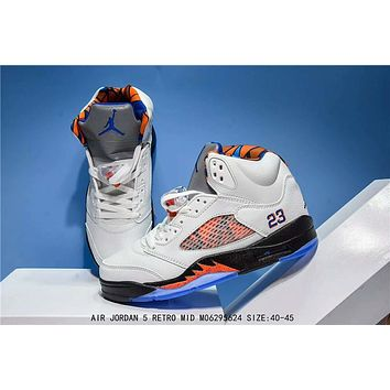 Air Jordan 5 Retro Blue/orange Basketball Sneaker Size 40 45 | Best Deal Online