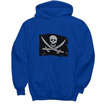 Pirate Flag Skull Head Swords Cool Awesome Hoodie