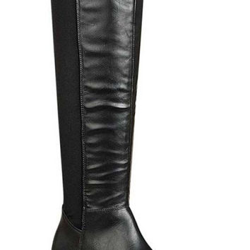 Best Flat Leather Knee High Boots Products on Wanelo