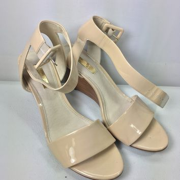Louise Et Cie Punya Odessa Patent Leather Wedge Sandals