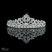 Beautiful Rhinestone Crowns Wedding Bridal Jewelry Ornament Crowns Tiaras For Party Dresses WH031