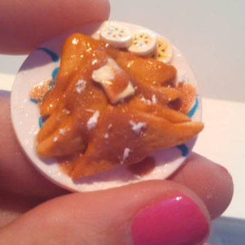Miniature French toast breakfast play scale 1:6 Blythe Barbie doll food