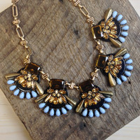 Fan Out Statement Necklace