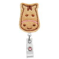 Cute Horse - Badge Holder - Nurses Badge Holder - Cute Badge Reels - Unique ID Badge Holder - Felt Badge - RN Badge Reel