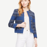 The Mixed Stripe Jacket | Ann Taylor