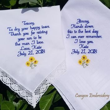 Wedding flower, design your choice, wedding floral, Wedding Gift Gifts for Parents, fiance, Personalized Gifts By Canyon Embroidery