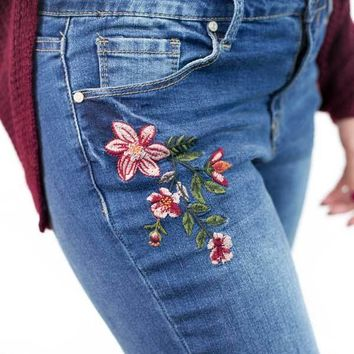 Roxanne Floral Embroidered Jeans