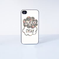 Okay? Okay Plastic Phone Case For iPhone 4/4S More Case Style Can Be Selected