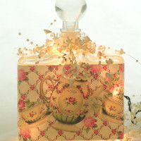 Tea and Roses Perfume Bottle Nightlight  ( Night Light )