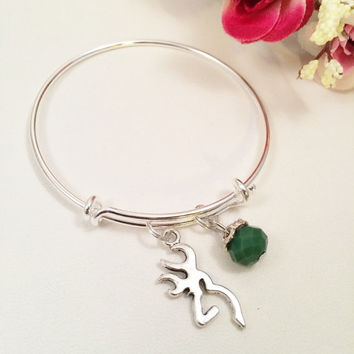 The Hunt Is Over Charm Bracelet, Bridesmaid gifts, Huntress jewelry, Deer bracelet, Antler jewelry