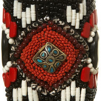Black Large Beaded Cuff - Jewellery - Accessories - Topshop USA