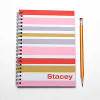 Custom Planner, 12 Month Day Planner, weekly planner, custom gift idea, personalized calendar, contemporary style, Pink, Red, SKU: pl cherry