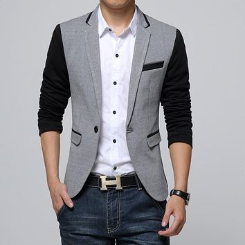 Fit Casual Cotton Men Blazer