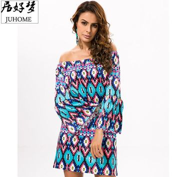 Hot Sale runway dresses 2017 women high quality vintage fashion Summer Sundress Women's beach Tunic hippie boho chic robe femme