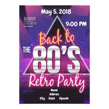Back To The 80's Card