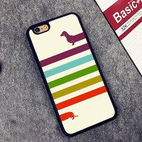 Colorful Infinite Dachshund iPhoneCase
