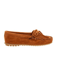 Minnetonka Kilty - Brown Suede Moccasin