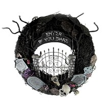 Halloween Enter If You Dare Wreath Halloween Decor