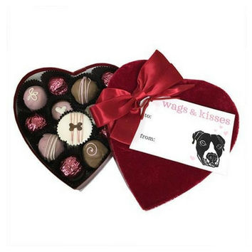 Paws & Kisses Velvet Heart Box