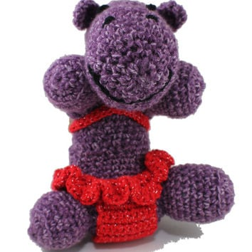 Heidi the HIPPO - amigurumi toy - soft animal toy - handmade crochet toy