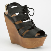 Delicious Theresa Womens Wedges Black  In Sizes