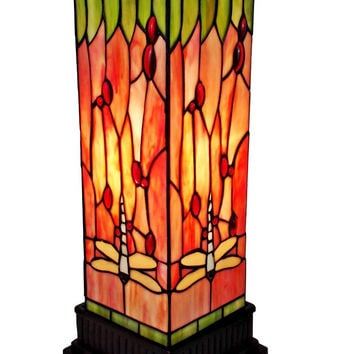 Tiffany Style  18-inch Dragonfly Table Lamp