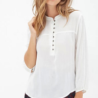 Women solid summer blouses vintage three quarter sleeve O neck shirts Blusas Femininas casual office wear tops