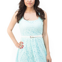 Brunch at Tiffany's Blue Lace Dress