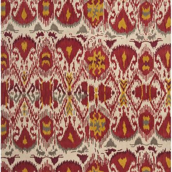 Ikat Traditional Indoorarea Rug Ivory / Red