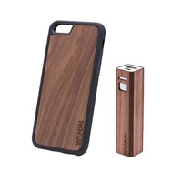 Ultra Slim Wooden iPhone Case 6 or 6+ and a 3000 mAh Power Bank