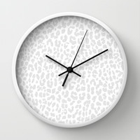 Pale Gray Leopard Wall Clock by M Studio