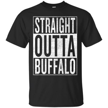 Straight Outta Buffalo Great Travel & Gift Idea T-Shirt_Black