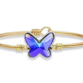 Arctic Blue Butterfly Bangle