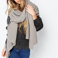 Pieces Oversized Textured Blanket Scarf